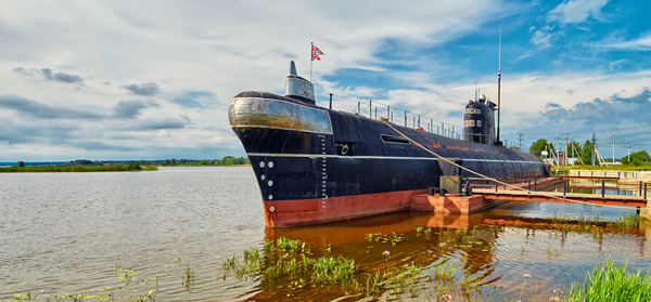 """Вытегра / """"Водные пути Севера"""", подводная лодка «Б-440», дом-музей поэта Н.А.Клюева и музей природы и истории края"""